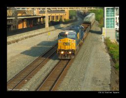 CSX at Station Square by yankeedog