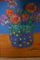 Flower power roses for valentine's day by ingeline-art