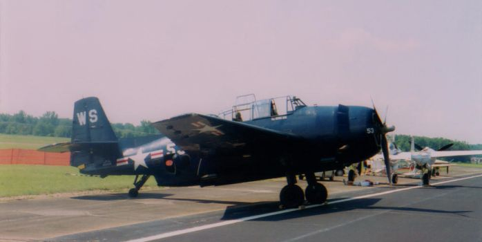 2001 AEDC Air Show - TBM-5 Avenger by squirrelismyfriend