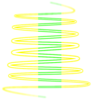 Green And Yellow Swirl PNG by SugarPaula