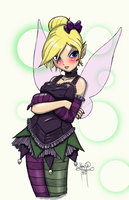 Tinker Bell Gothic Loli by sykoeent