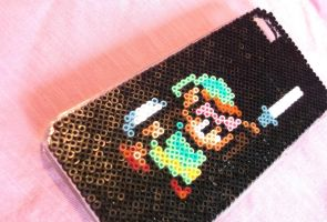 The Legend of Zelda Hama Bead IPhone Case by obscurepastels