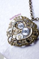 Floral clockwork heart by Natini