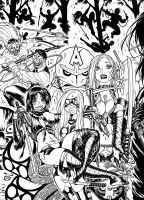 EMPOWERED vol. 7 cover, inked by AdamWarren