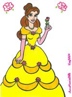 Princess Belle With A Rose by AnneMarie1986