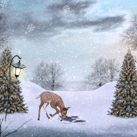 Cute Christmas PREMADE Background by KarahRobinson-Art