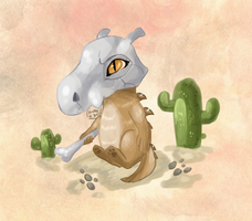 Cubone Painting by Hureji
