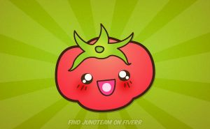 Kawaii tomato by junoteamvn