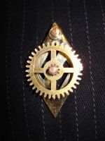 Steampunk Pin by tungstenwolf