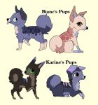 4 Pups for ~NightmareAdoptables. by MichelsAdoptions