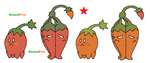 Red hot chilli peppers by JWNutz