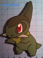 Axew Wood Cut-Out by 1Vaporeon