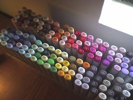 Copic Marker Collection by Tsuyoki