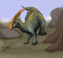 Parasaurolophus in colour by corvo9