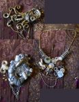 steam punk jewelry by Pureblackmagik