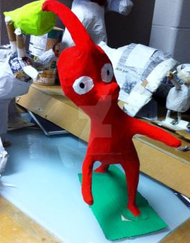 Red Pikmin Paper Mache Attempt by predatorname