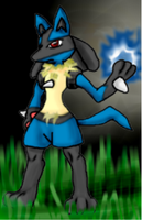 Lucario_Colored by ps11dude