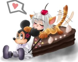 Riku-Cat and Mouse by Jack-a-Lynn