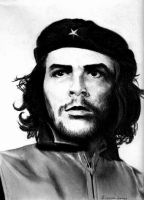 Che In Charcoal by EvilNumberThree