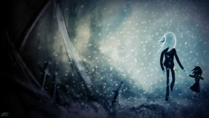 Alone in the Ash and Snow by The-Spooky-Man