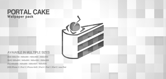 Portal Cake Wallpaper Pack by MikeMovies