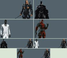 Arkham Origins and Deadpool Wallpapers by Verulo