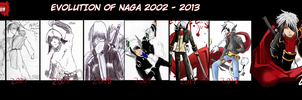 Evolution of Naga 2002 - 2013 by Ishida1694