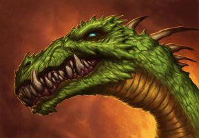 Green Dragon by DaveAllsop