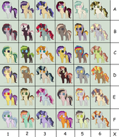 Pony Color Palettes Adopts (OPEN) by kurofa