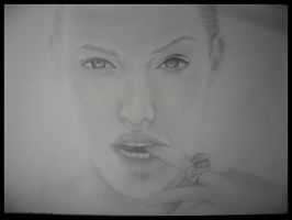Angelina Jolie drawing by muisie