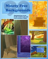 90 Free Backgrounds by Zimeta