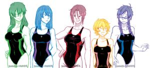 Genderbend Free! by Sakura-Rose12