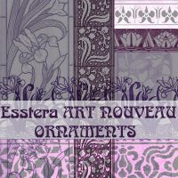 art nouveau ornaments by esstera