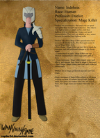 Character Sheet: Indohrin by Rayder3d