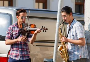 Street musicans by sztewe