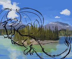 Dragon wip by painted-flamingo