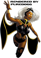 X-Men: Storm Render by puredogg