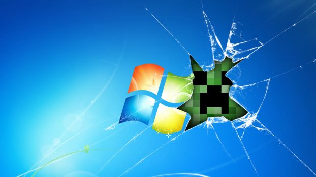 Windows 7 Creeper Wallpaper by Andyd4