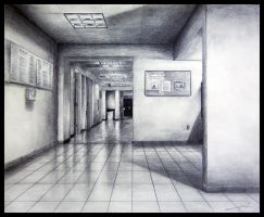 Hallway Perspective by JuanX