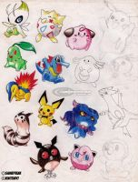 Old Artwork: Pokemon by jadenkaiba