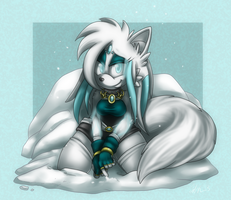 Snowing Commission by ScittyKitty
