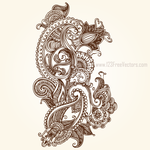 Paisley Designs Free by 123freevectors