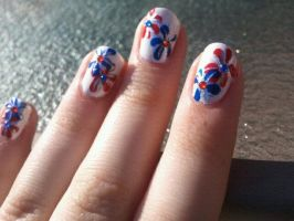 4th Of July Firework Nails by TheNailFile