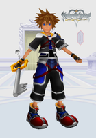 KH Deep Dive Destiny - Keyblade Master Sora by todsen19