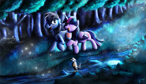 Fanart - MLP. Moonlight Magic by jamescorck