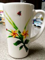 Hand-Painted Cup 1 by BeeBeeBeee