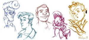 The Real Ghostbusters sketches by tunasammiches