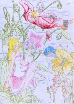 flowers and fairies by historical-pumpkin
