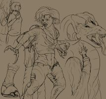 Drawing out the Monster by ErnCer