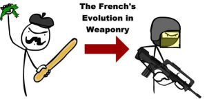French Evolution in Weaponry by MegaByte666